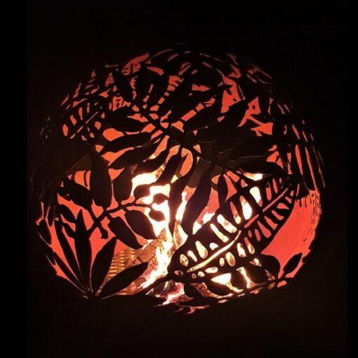 Exotic Leaves Fireball Garden Firepit Fireplace