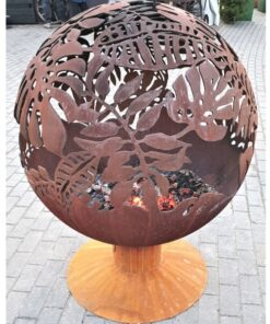 Exotic Leaves Fireball Garden Firepit