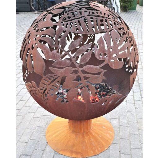 Exotic Leaves Fireball Garden Firepit