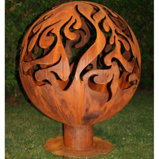 Очаг для костра садовый камин шар с темой пламени