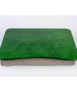 Зелёный поднос на подушке для ноутбука
