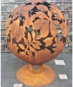 Очаг для костра садовый камин шар сфера с темой дубов