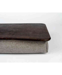Коричневый поднос на подушке для ноутбука